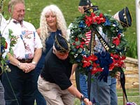 Memorial Day Service in Veterans Memorial Park